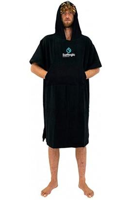 SURFLOGIC PONCHO BLACK