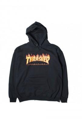 TRASHER FLAME LOGO HOOD